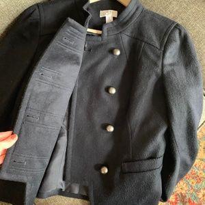 LOFT Jackets & Coats - AT LOFT I Double Button Navy Jacket